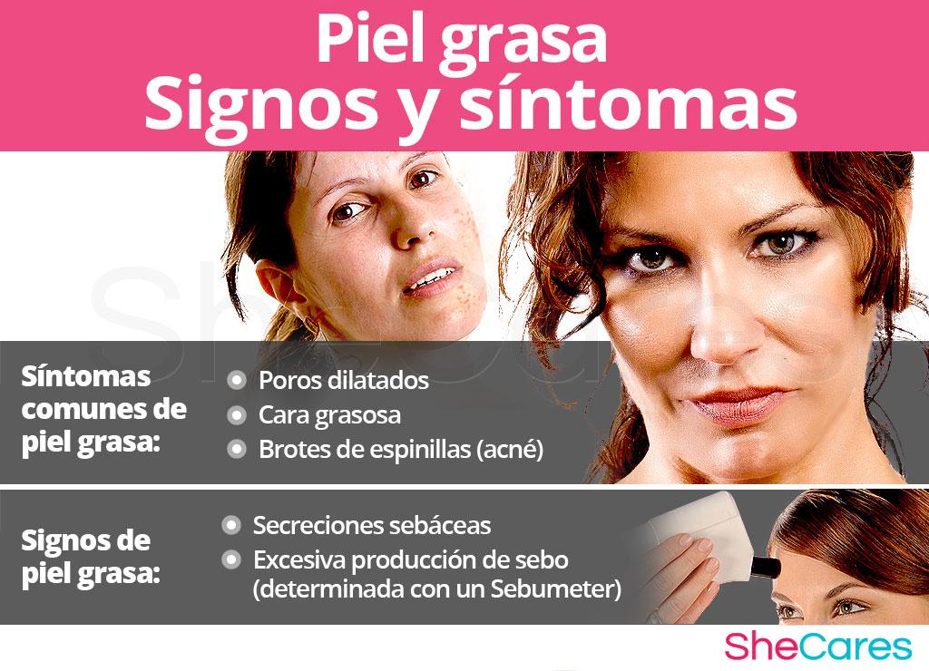Signos y síntomas de la piel grasa