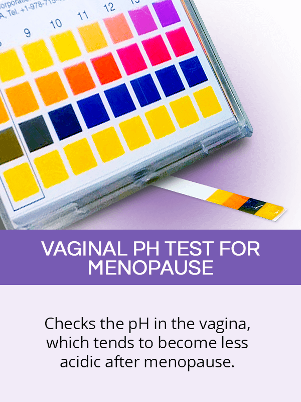 Vaginal pH test for menopause