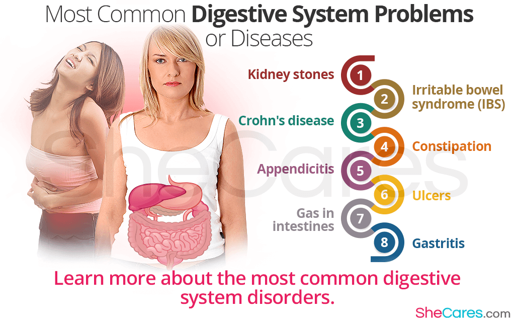 Most Common Digestive System Problems or Diseases