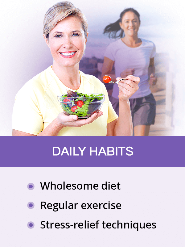 Daily habits for menopause symptoms