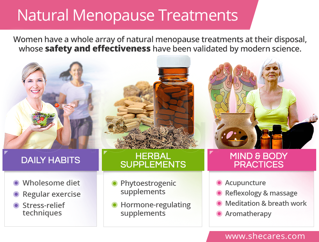 Natural treatments for menopause symptoms