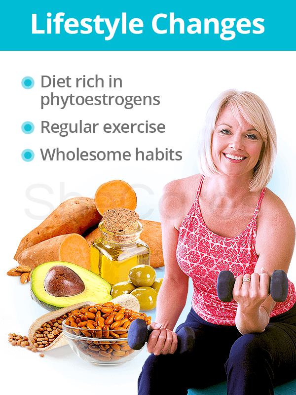 Lifestyle changes as alternatives to hormone replacement therapy