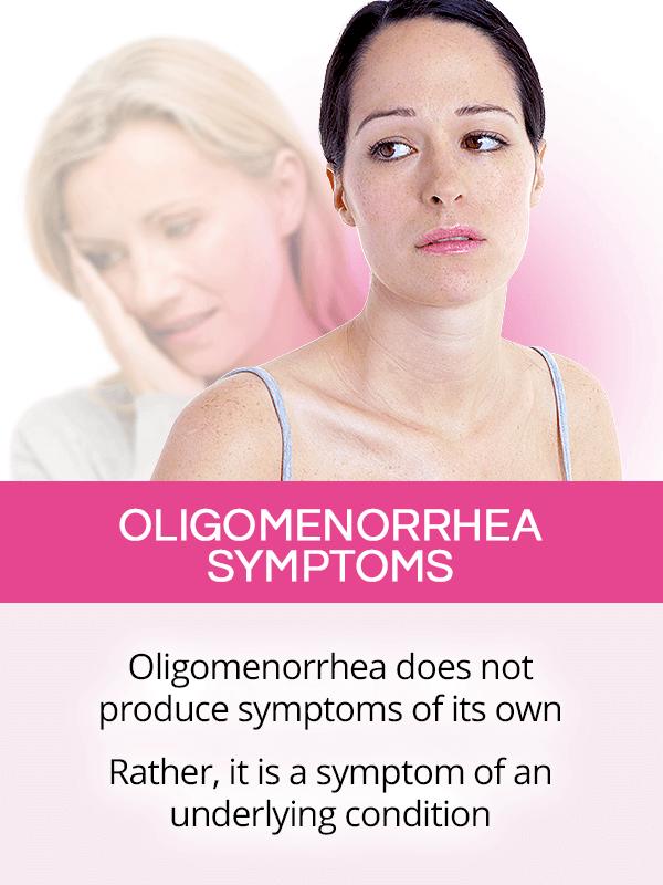 Oligomenorrhea symptoms