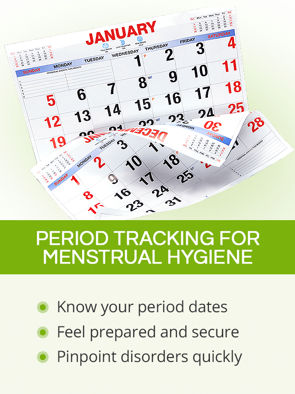 Period tracking for menstrual hygiene