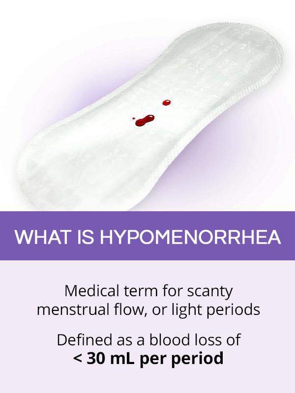 What is hypomenorrhea