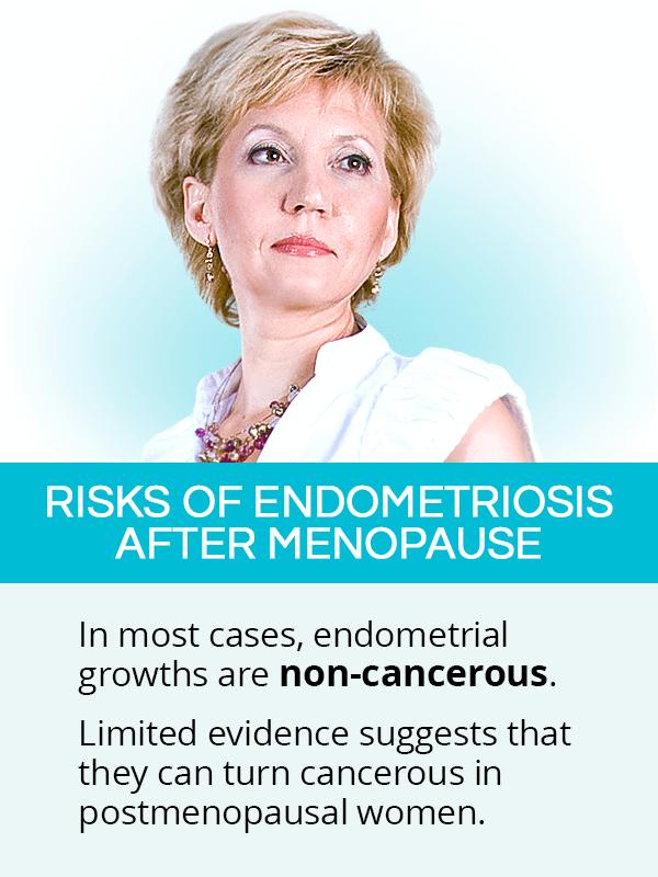Risks of endometriosis after menopause