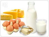 Dairy products help to keep bones strong and healthy