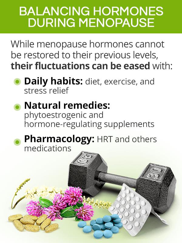 Balancing hormones during menopause
