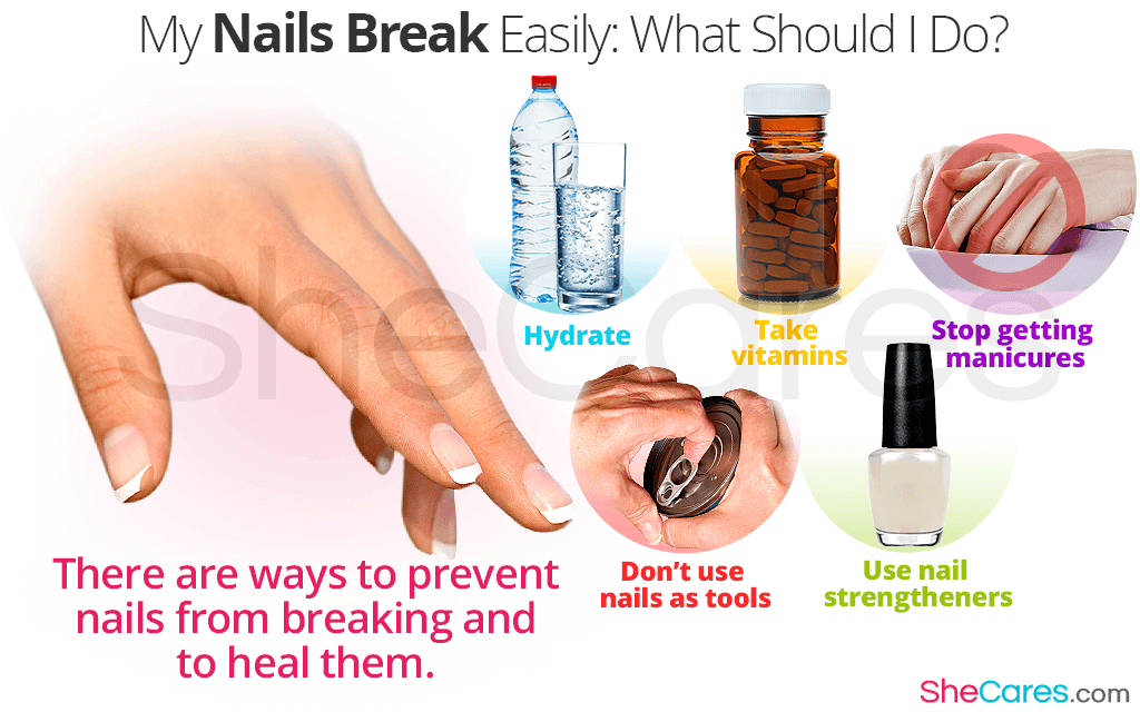 There are ways to prevent nails from breaking and to heal them.