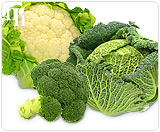 Cruciferous vegetables decrease the risk of certain types of cancer