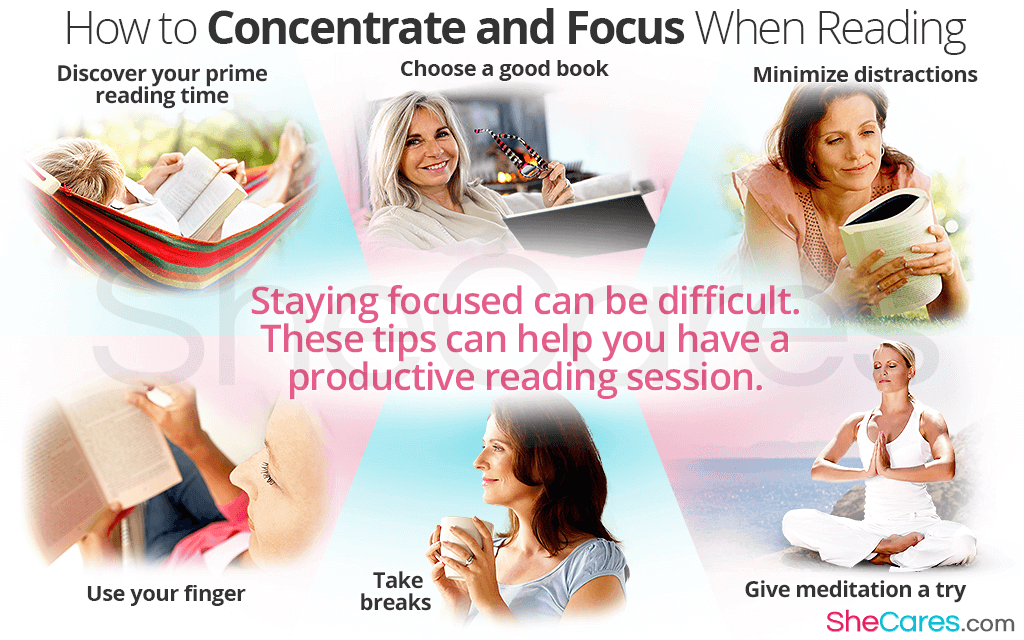 Staying focused can be difficult. These tips can help you have a productive reading session.