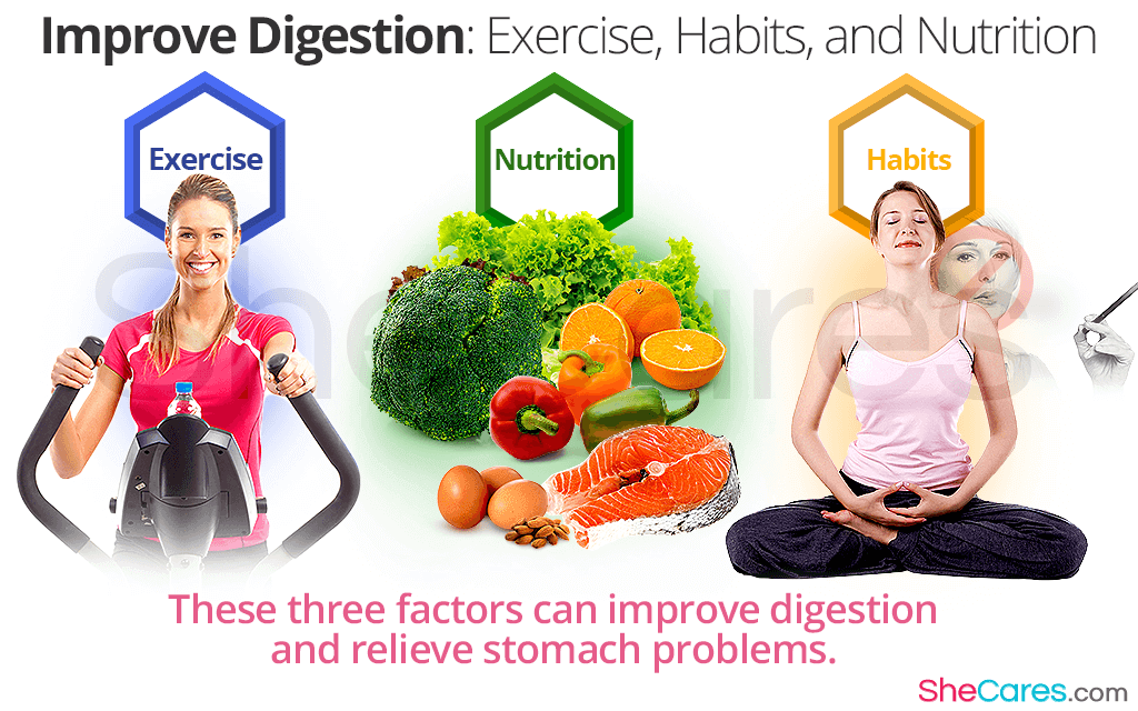 Improve Digestion: Exercise, Habits, and Nutrition