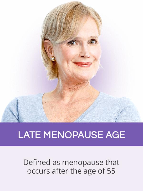 Late menopause age