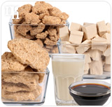 Soy products contain antioxidants and mimic the effects of the estrogen.