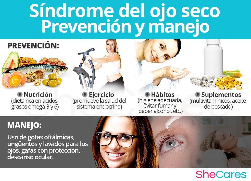 Prevención y manejo del síndrome del ojo seco