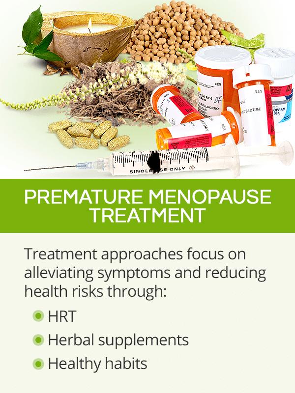 Premature menopause treatment