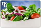 A salad for lunch is a suggested daily meal plan for lowering estrogen.