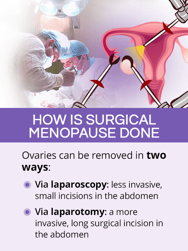 How is surgical menopause done