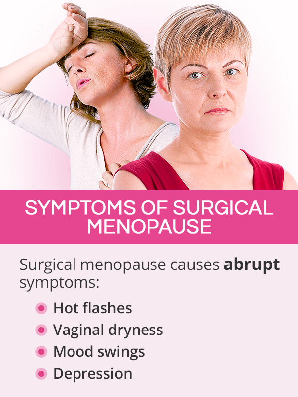 Symptoms of surgical menopause