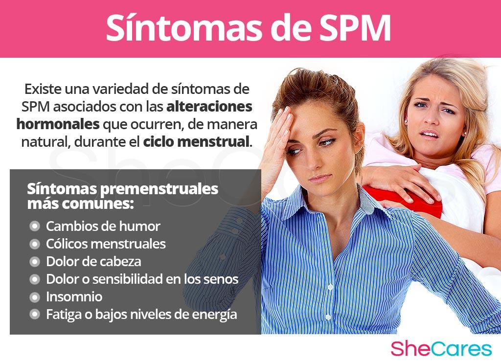 Síntomas del síndrome premenstrual - SPM