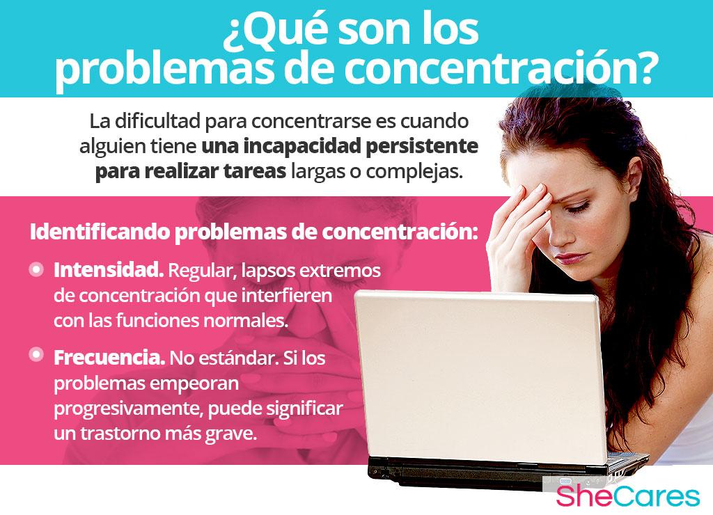 ¿Qué son los problemas de concentración?