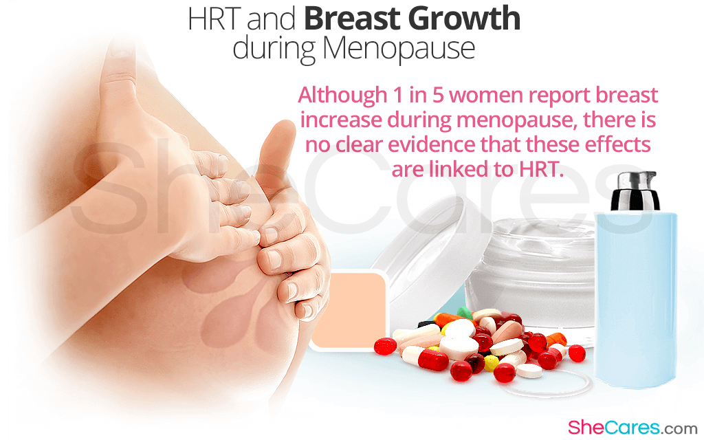 HRT should never be used for the sole purpose of enlarging breast size.