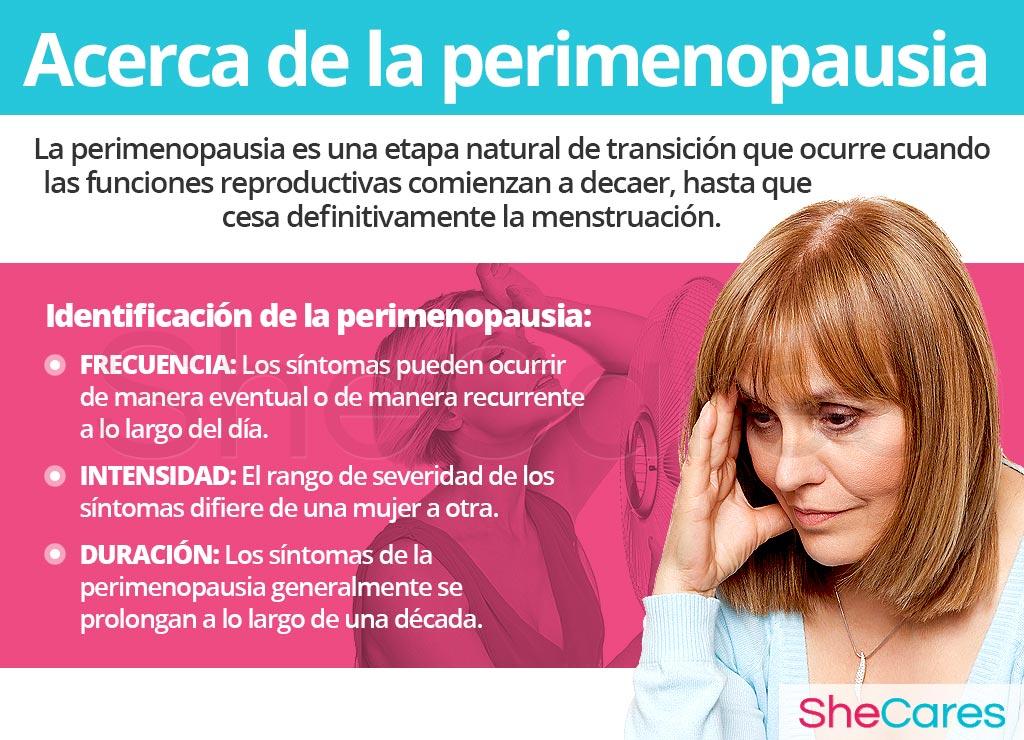 Acerca de los síntomas de la perimenopausia