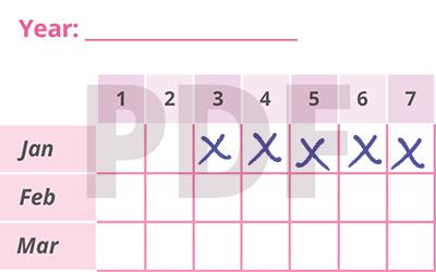 Period Calendar PDF