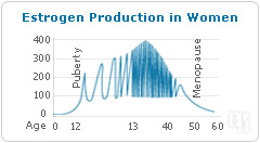 Estrogen production in women