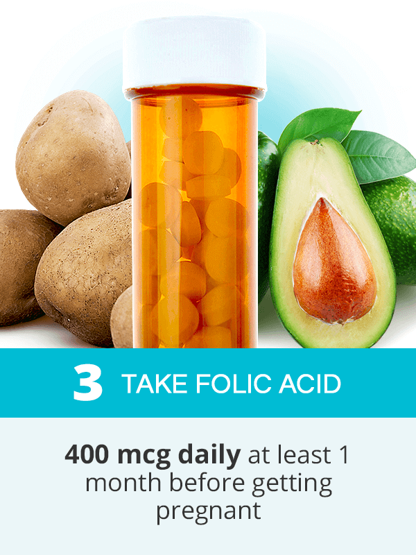 Take folic acid to get pregnant fast