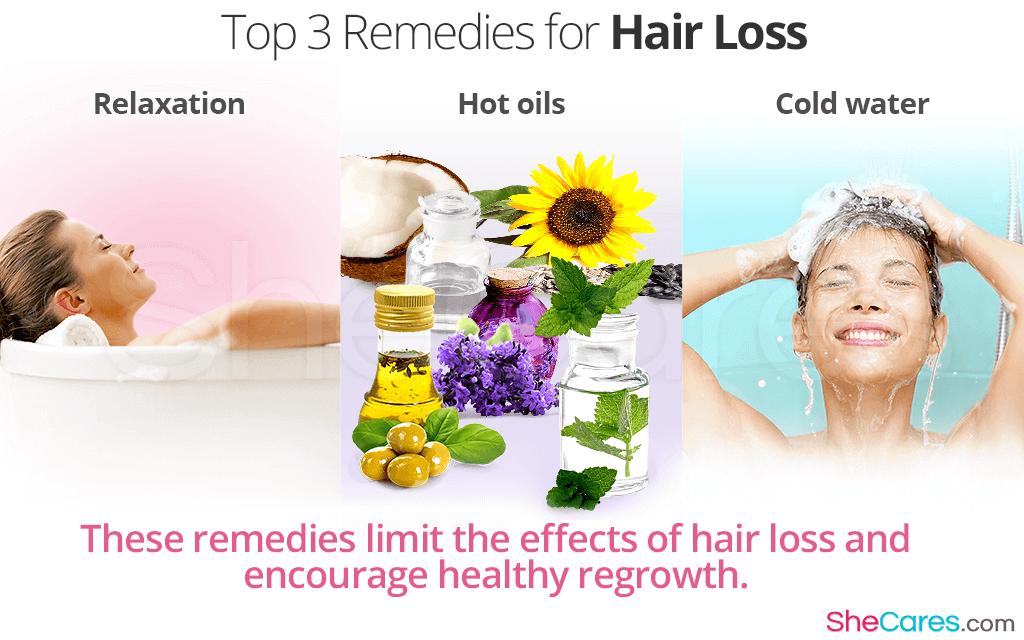 These remedies limit the effects of hair loss and encourage healthy regrowth.