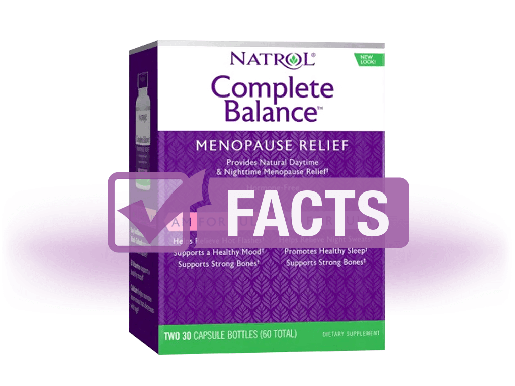 Natrol Complete Balance for Menopause AM/PM: Complete Information