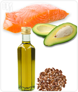 Eat avocados, fatty fish, and flax or fish oil supplement to your diet to boost testosterone levels