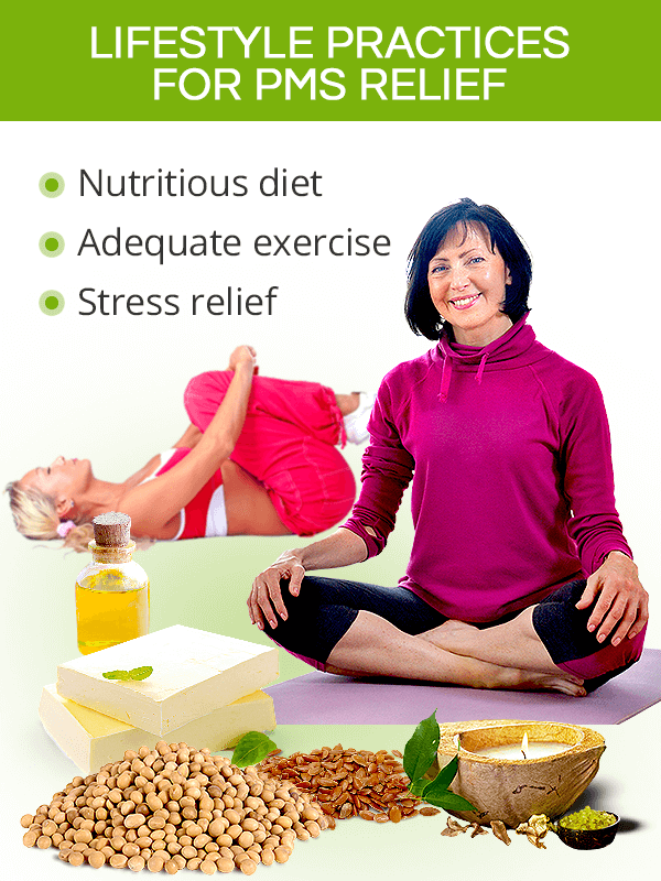 Lifestyle practices for PMS relief
