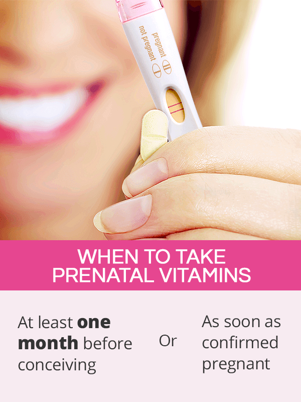 When should you start taking prenatal vitamins