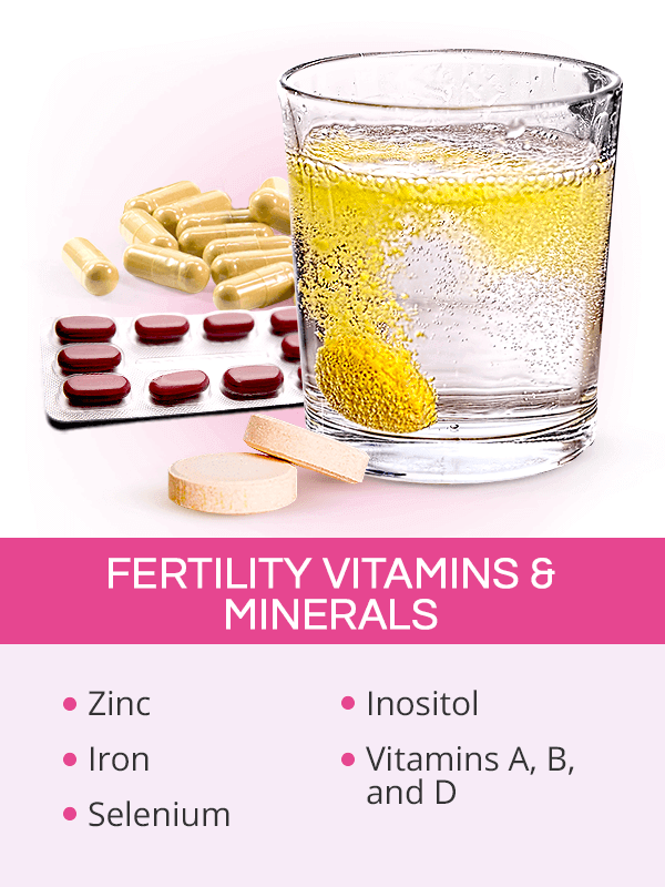 Fertility vitamins and minerals