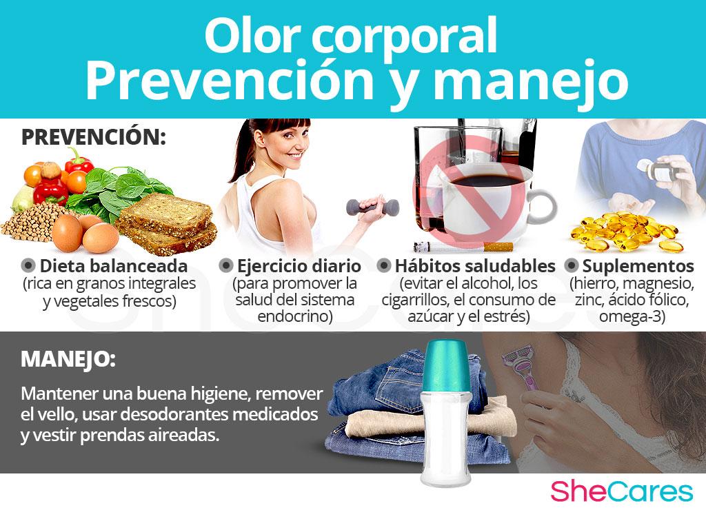 Cambios en el olor corporal - Prevención y manejo