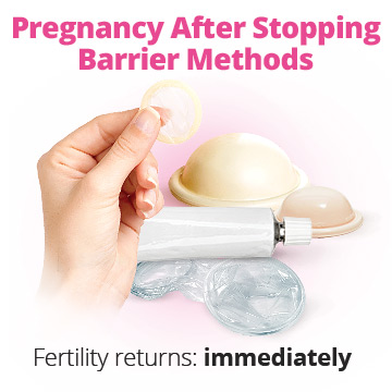 Getting pregnant after stopping barrier methods of birth control