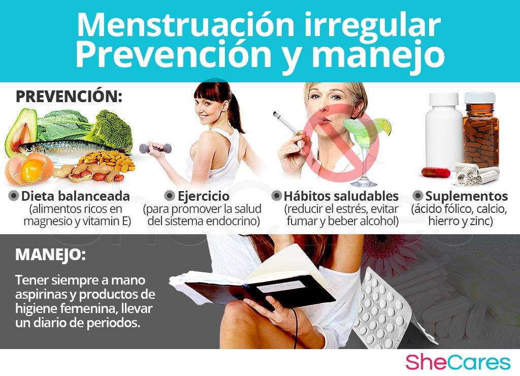Prevención y manejo de la menstruación irregular