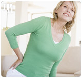 Backaches are physical side effects of low estrogen levels.