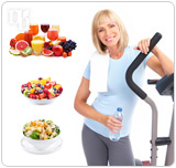 Exercise and eating a well balanced diet are important in maintaining health