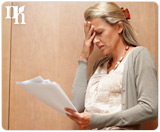 Difficult concentrating is caused by erratic hormone levels.