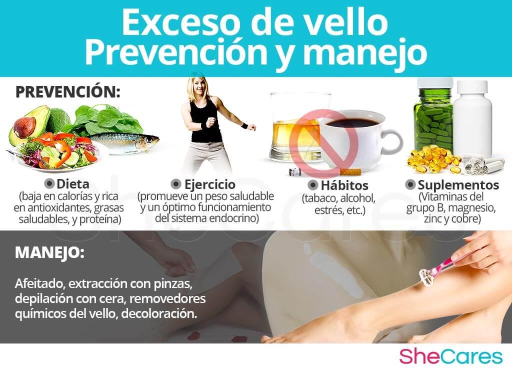 Prevención y manejo del exceso de vello