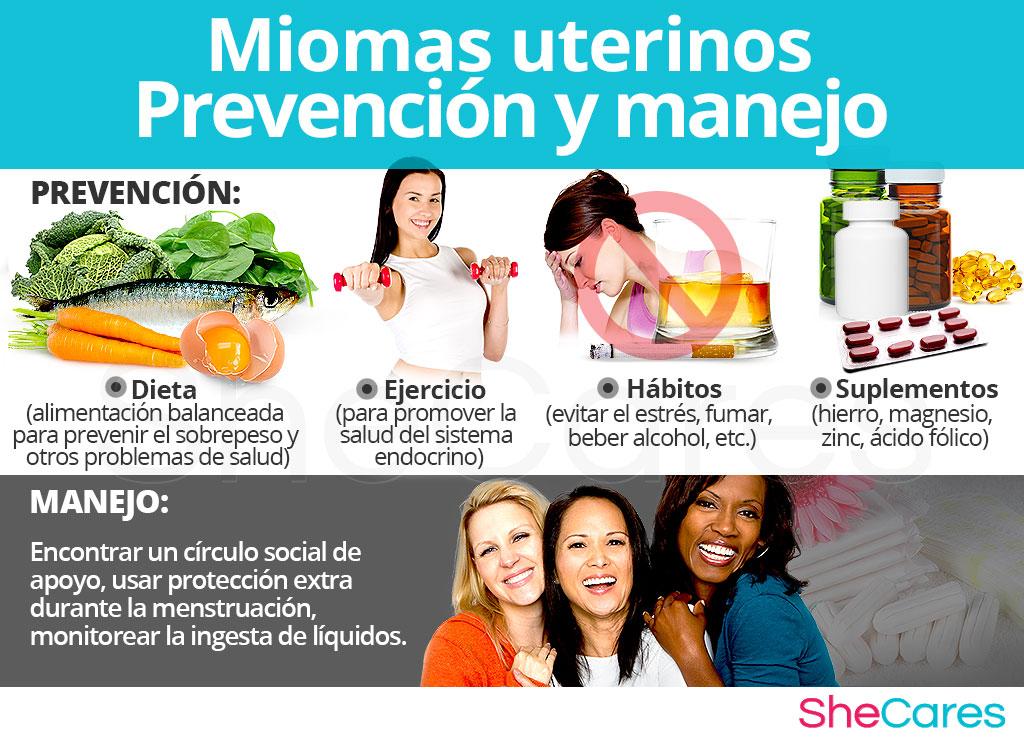 Miomas uterinos - Prevención y manejo