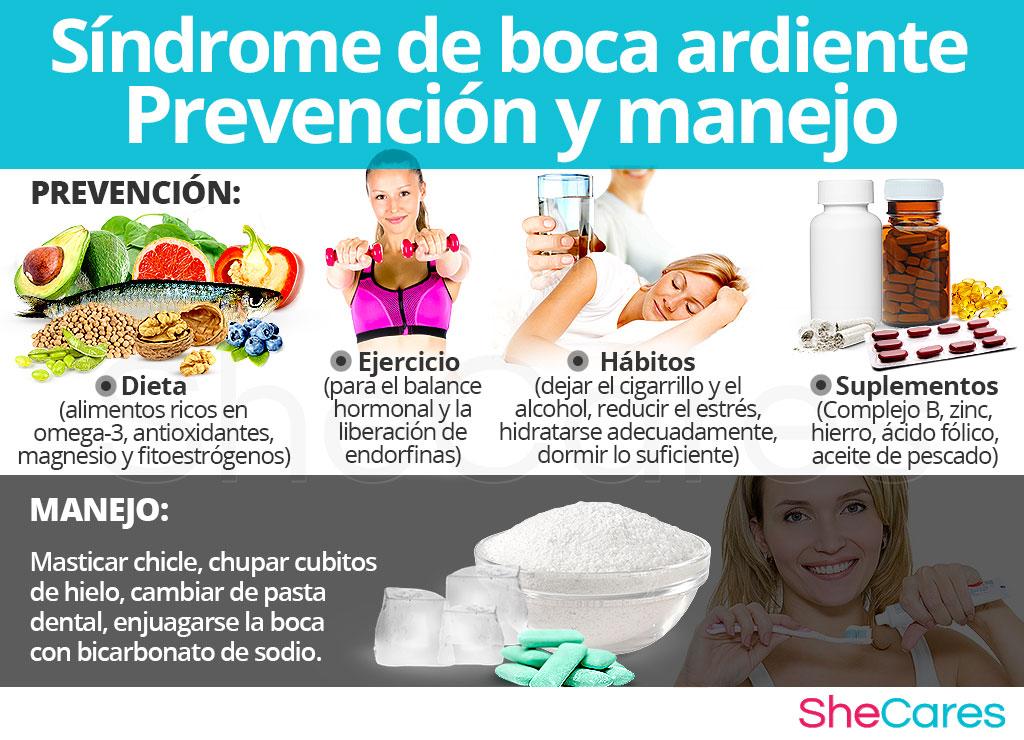Síndrome de boca ardiente - Prevención y manejo