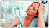 Hot flashes are one of the physical symptoms of menopause