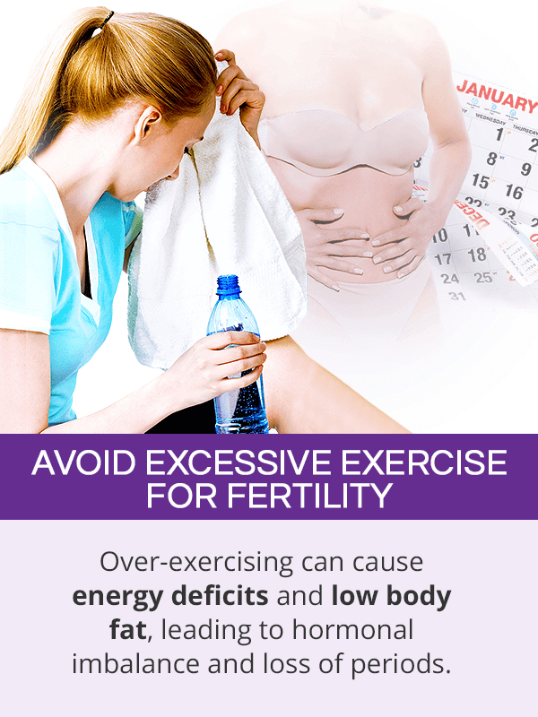 Avoid excessive exercise for fertility