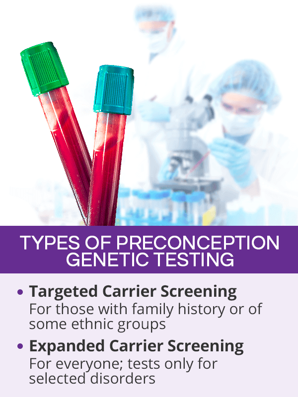 Preconception genetic testing types