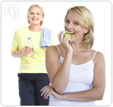 Exercising more and eating healthier are good ways to regain balance during menopause