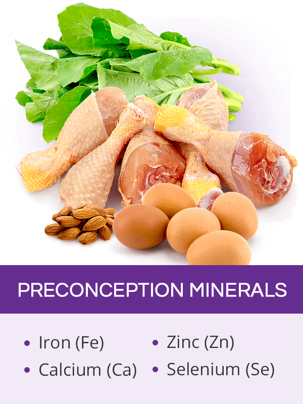 Preconception minerals